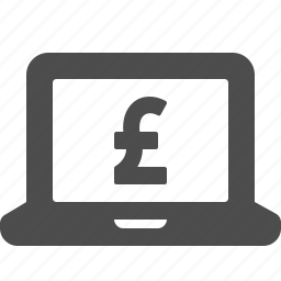 british, currency, gbp, laptop, pound icon