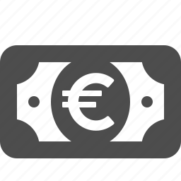 bill, cash, currency, euro, money icon