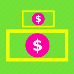 bank, cash, dollar, exchange, payment, rich, sale icon