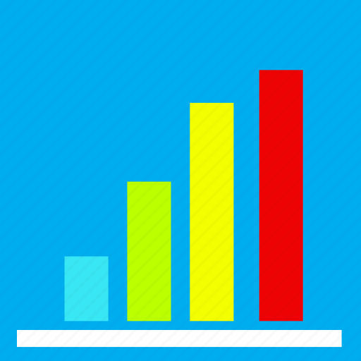 analytics, business, chart, colour, creative, marketing, report icon