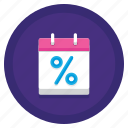 annual, finance, percentage, rate icon