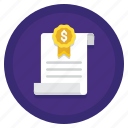 articles, finance, incorporation, money icon