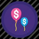 balloon, finance, loan, money