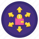 business, expenses, finance, money icon