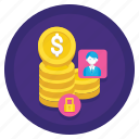 asset, finance, fixed, money icon
