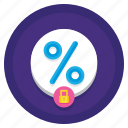 business, finance, fixed, interest, rate icon