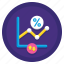 finance, floating, interest, rate icon