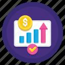 finance, gross, money, profit icon