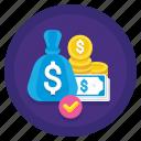 finance, money, net, worth icon