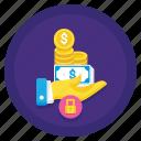 finance, loan, money, secured icon