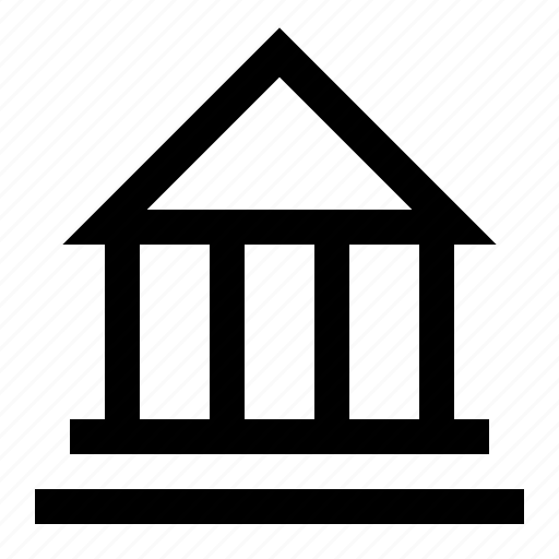 bank, banking, building, courthouse, finance icon