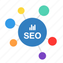 business, communication, connection, development, marketing, seo icon