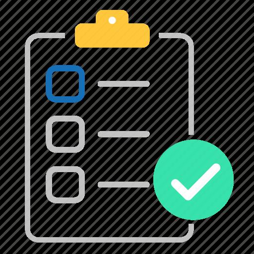 accept, checklist, checkmark, clipboard, document, seo icon