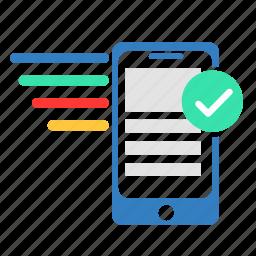 accept, analytics, phone, select, seo icon