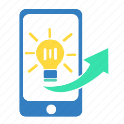 brainstorm, bulb, change, idea, innovation, light, phone icon