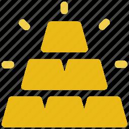 business, gold, setup icon icon