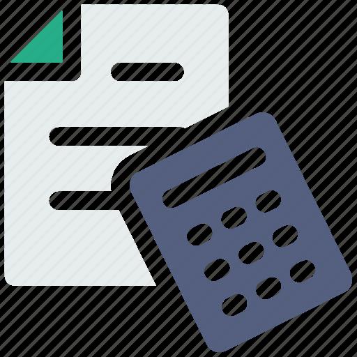 accounting, calculate, calculator, finance icon icon