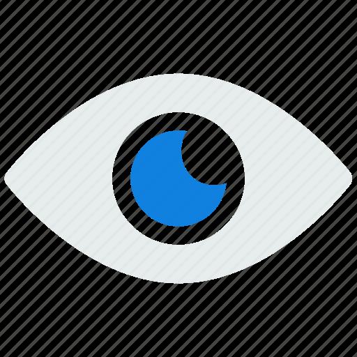 eye, face, human, vision icon icon