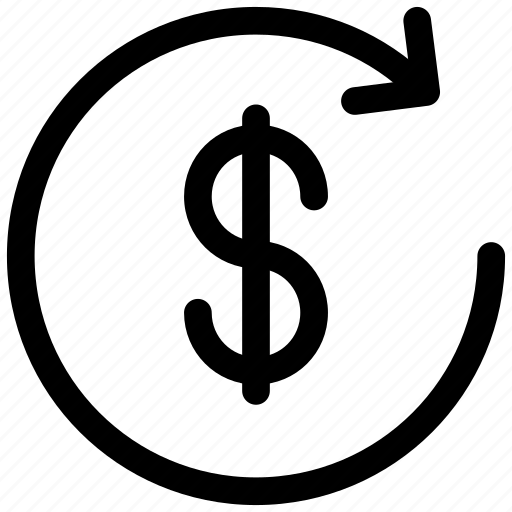 arrow, circle, dollar, dollar change, exchange, money, money exchange icon icon