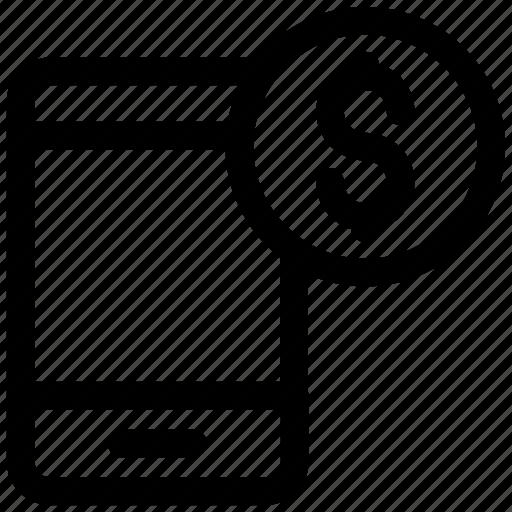 cell, dollar, mobile icon icon
