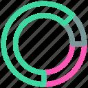analytics, financial report, pie chart, statistics icon icon