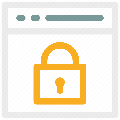 browser, lock, padlock, web icon icon