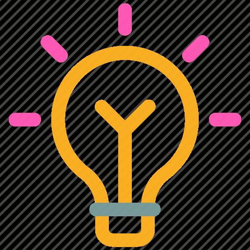 Blub Bright Idea Lightbulb Solution Icon