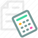accounting, calculate, calculator, finance icon icon