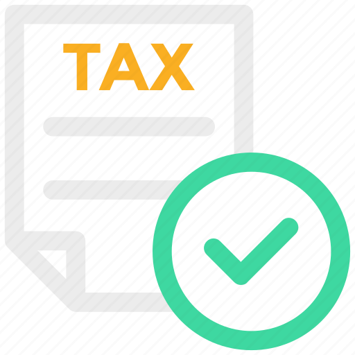 check mark, contract, document, invoice, tax form, verified icon icon