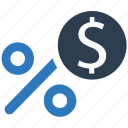 cash, discount, money, percent, shopping discount icon