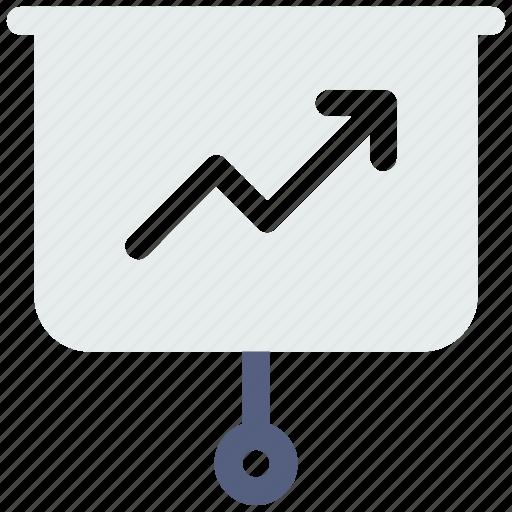 arrow, board, chart, diagram, up icon icon