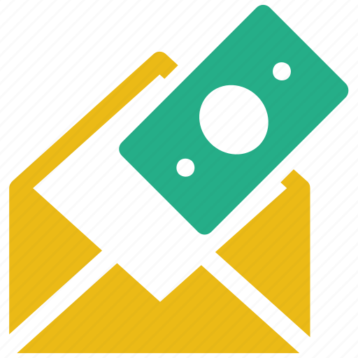 bill, bribe, donation, envelope, mail, money, tax icon icon