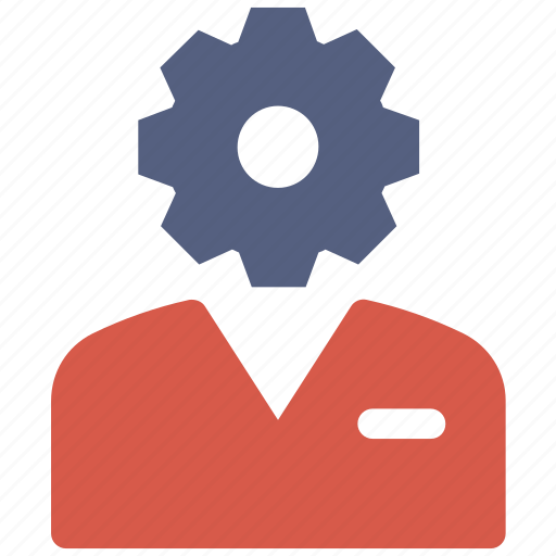 business, gear, man, settings icon icon