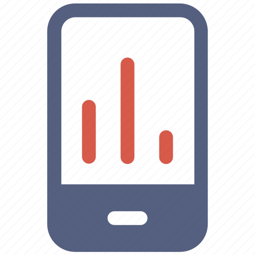 analysis, company, graph, mobile, statics, turnover icon icon