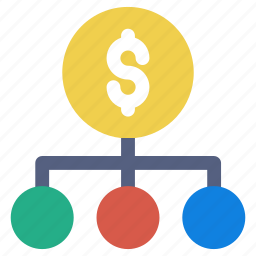 dollar strategic, revenue, team icon icon
