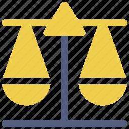balance, justice, law, scale icon icon