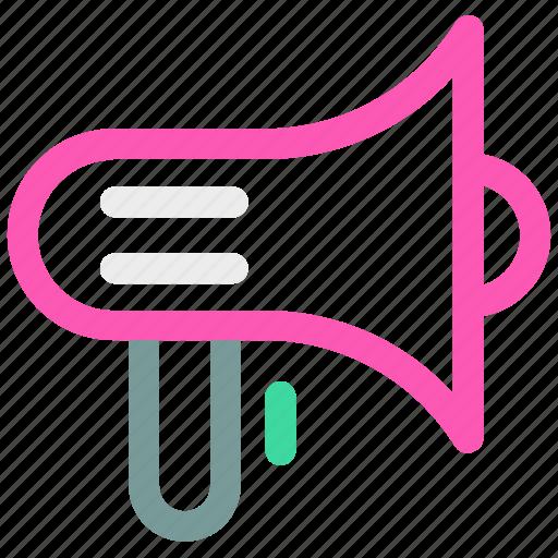 advertising, marketing, megaphone icon icon