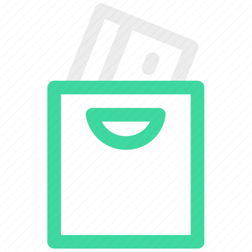 atm, bag, commerce, shopping icon icon