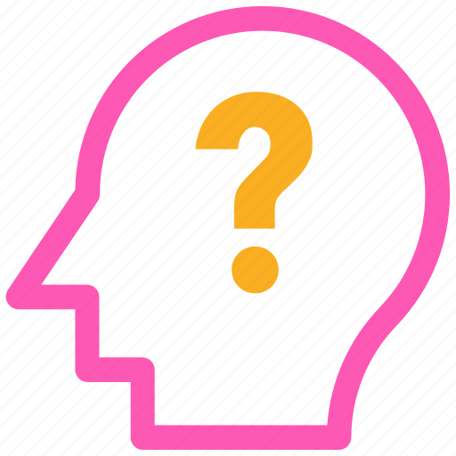 analytic, brain, business mind, human head icon, question icon