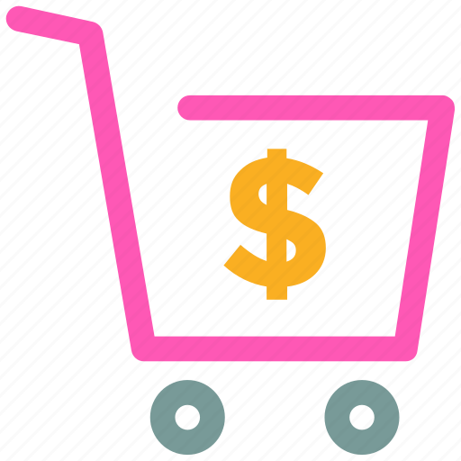 cart, dollar, shopping, sign icon icon