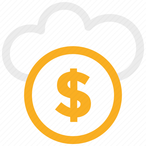 banking, business, cash, cloud, currency, dollar, finances, money, shopping icon icon