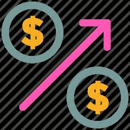 dollar, money, sign icon icon