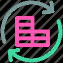 arrow, circle, dollar, history, refresh icon icon