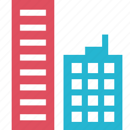 building, factory, finance, money, online icon