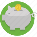bank, banking, coin, money, pig, piggy, save