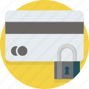 card, credit, lock, payment, safe, secure, security icon