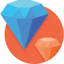 blue, crystal, diamond, jewel, jewelry, luxury, shine icon
