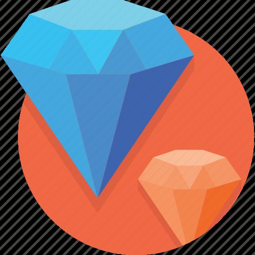 Blue, crystal, diamond, jewel, jewelry, luxury, shine icon - Download on Iconfinder
