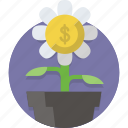 dollar, finance, grow, growth, money, plant