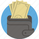 cash, dollar, money, pay, payment, purse, wallet icon